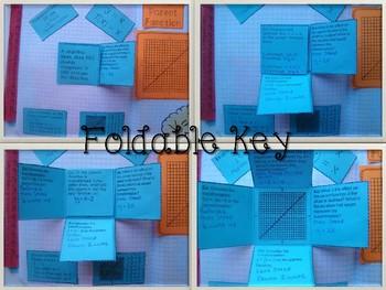 Linear Parent Function & Transformation Foldable, INB, Practice, Exit