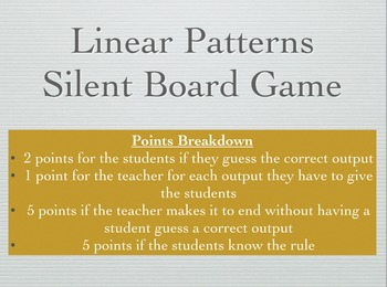 Linear Patterns Silent Board Game
