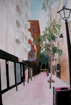 Linear Perspective Cityscape Lesson Plan
