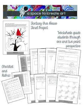 Linear Perspective Workbook & 2-Point Perspective Fantasy Tree House Project