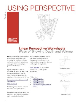 Linear Perspective Worksheets and Instructional Videos