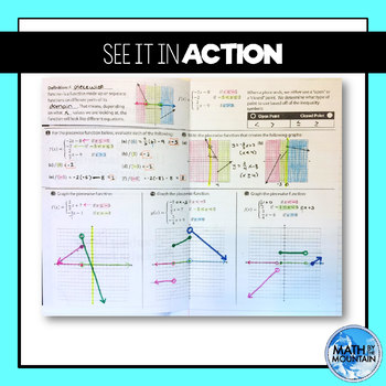 Linear Piecewise Functions Foldable