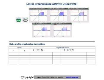 Linear Programming Activity