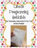 Linear Programming Foldable