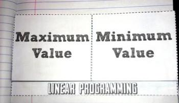 Linear Programming Maximum Minimum Values Foldable A-CED.1 - 3, A-REI.3