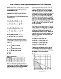 Linear Programming Model Construction
