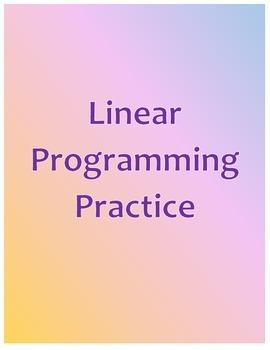 Linear Programming Practice