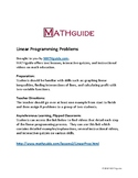Linear Programming Problems