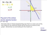 Linear Programming lesson
