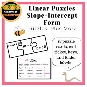 Linear Puzzles: Slope-Intercept Form