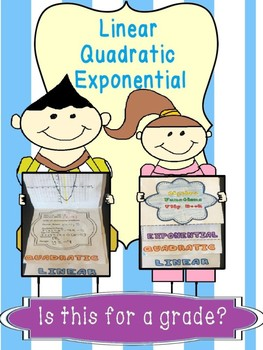 Linear, Quadratic, Exponential Functions Flip Book