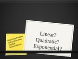 Linear, Quadratic, Exponential Functions: Formative Asmt Slideshow