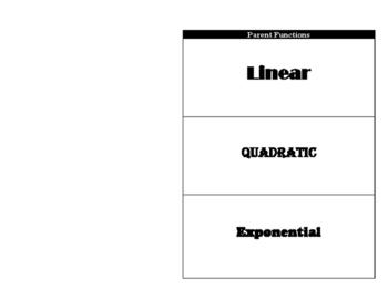 Linear-Quadratic-Exponential Parent Function Foldable
