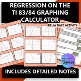Linear, Quadratic, Exponential Regression on the TI 83/84 Calculator