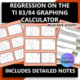 Linear, Quadratic, Exponential Regression on the TI 83/84