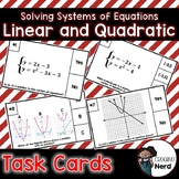 Linear & Quadratic System of Equations Task Cards
