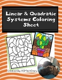 Linear & Quadratic Systems Coloring Sheet