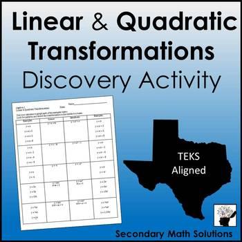 Linear and Quadratic Transformations (A3E, A7C)