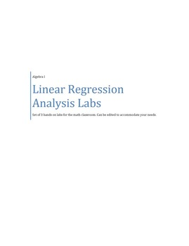 Linear Regression Analysis Labs