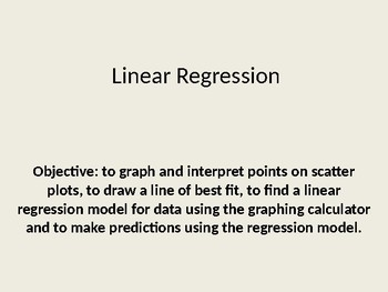 Linear Regression Powerpoint