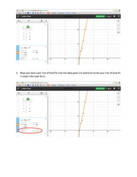 Linear Regression on Desmos
