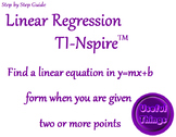 Linear Regression on the Nspire Step by Step Guide