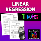 Statistics Linear Regression on the TI 83 84 Graphing Calculator