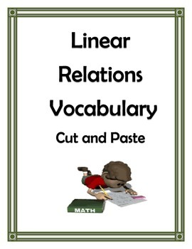 LINEAR RELATIONS VOCABULARY