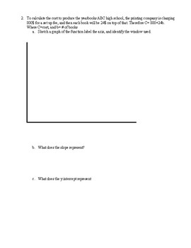 Linear Relations Word Problems
