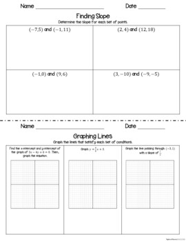 Linear Relations and Functions - Interactive Notebook Activities