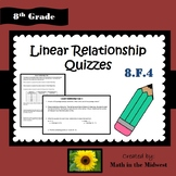 Linear Relationship Quizzes - 8.F.4