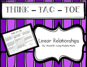 Think-Tac-Toe - Linear Relationships