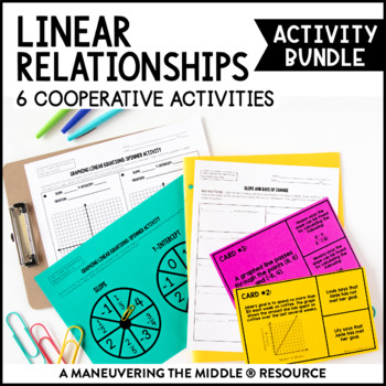 Linear Relationships Activity Bundle
