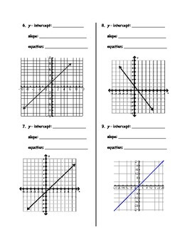 Linear Relationships - Graphs to Equations
