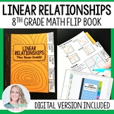 Linear Relationships Mini Tabbed Flip Book for 8th Grade Math