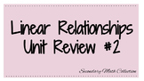 Linear Relationships Review #2