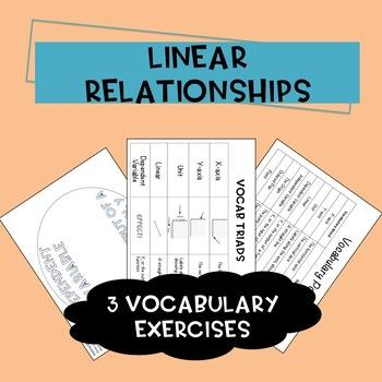 Linear Relationships Vocaubulary Activities
