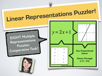 Linear Representations Puzzler - Cooperative Puzzle Tasks Reinforce Vocabulary!