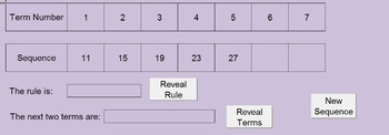 Linear Sequences Free - Randomly Generated Interactive Exc