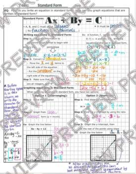 Linear Standard Form Notes