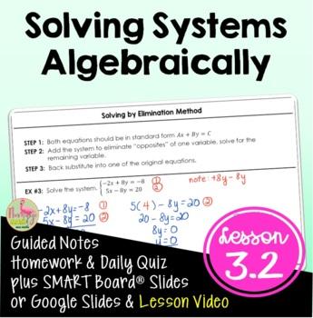 Algebra 2: Solving Systems Algebraically