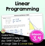 Linear Programming (Algebra 2 - Unit 3)
