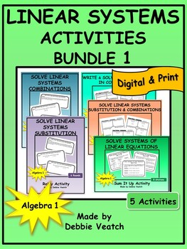 Linear Systems Activities Bundle 1