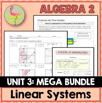 Linear Systems & Inequalities Bundle