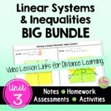 Linear Systems BIG Bundle (Algebra 2 - Unit 3)