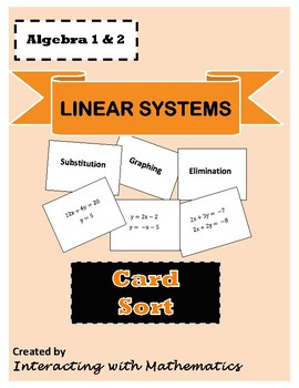 Linear Systems Card Sort