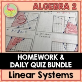 Linear Systems and Inequalities Homework (Algebra 2 - Unit 3)