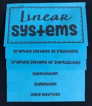 Linear Systems Overview (Mega Foldable)