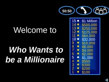 Linear Systems Review Game - Who Wants to be a Millionaire