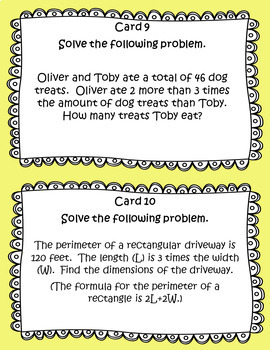 Linear Systems Word Problems with Examples